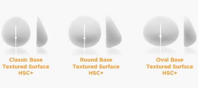 Forma de la base de los implantes mamarios