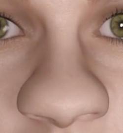 nariz con punta ancha